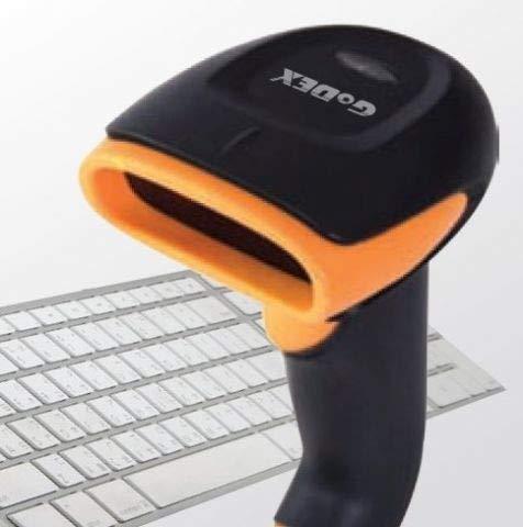 Godex GS220 lecteur de code barres 1D Laser Noir 1D, Laser, Codabar,Code 11,Code 128,Code 93,EAN-13,GS1-128 ,JAN,U.P.C., 72 lectures//seconde, 650 nm, Avec fil Lecteurs de code barres Orange Handheld bar code reader UCC//EAN-128