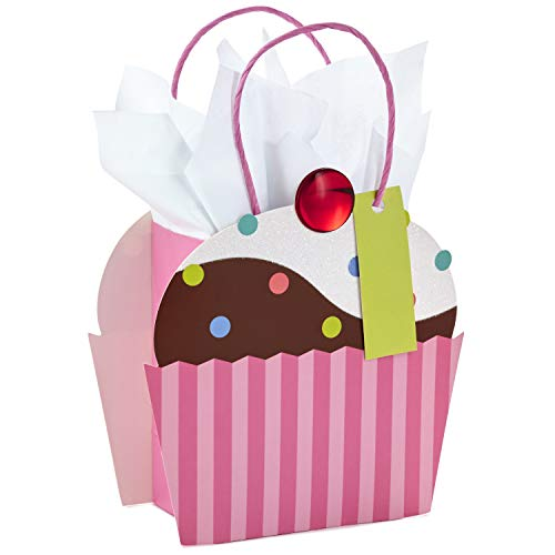 (Hallmark Small Gift Bag with Tissue Paper for Birthdays, Mother's Day, Baby Showers, Bridal Showers, or Any Occasion (Cupcake))