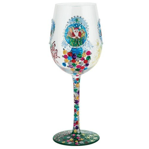 Santa Barbara Design Studio GLS11-5529M Lolita Love My Wine Hand Painted Glass, Snow Globe