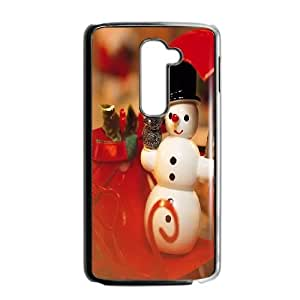 LG G2 Cell Phone Case Black Snowman D7G7KM