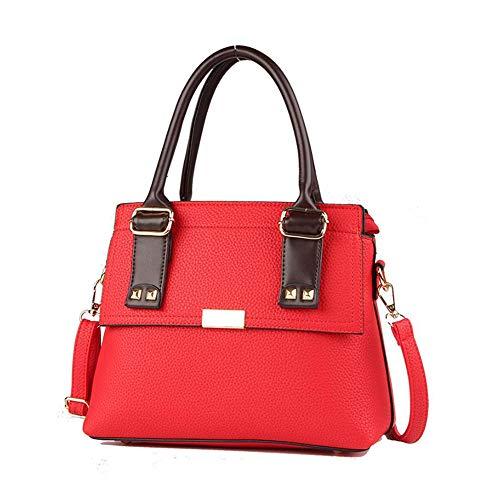 Sac Messenger 21CM Bag Couleurs 11 PZ La 501 28 ANLEI Femmes Main bandoulière à PU 5 à Red Sac Mode dqUwAOT7