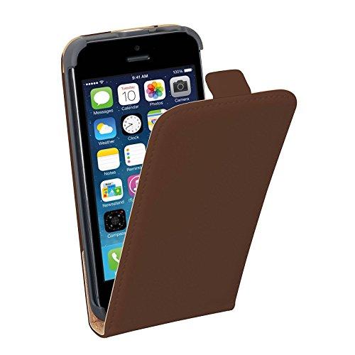 PEDEA Étui pour Apple iPhone 5/5S–Marron