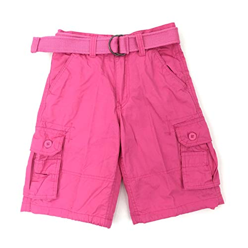 Henry & Willaim Boy's Cargo Shorts with 22 Variety of Colors-Hot Pink (Pink Camo Boy Shorts)