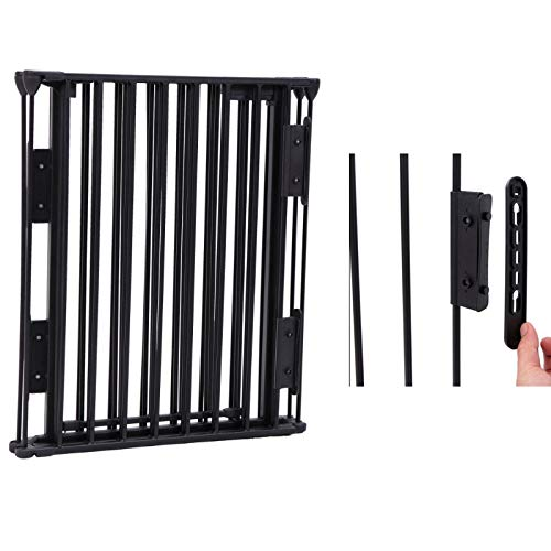 Upgraded Fireplace Safety Fence Baby Gate/Fence BBQ Pet Metal Fire Gate Baby Play Yard with Door 5 Panels Safety Gate for Pet/Toddler/Dog/Cat US Stock by Tenozek (Image #4)