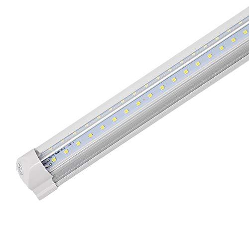 1 Foot LED Shop Light Fixture, Led V Shape Integrated Tube Lights, Clear Lens Cold White 6000K