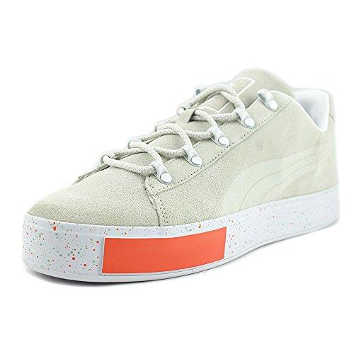 Puma X Dp Court Platform Ss Uomo Sneakers Verdi Scamosciate Punta Rotonda Grigio Ghiacciaio