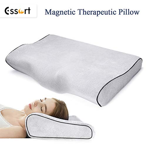 ESSORT Contour Memory Foam Pillow, Orthopedic Magnetic Deep Sleeping Pillow, Ergonomic Cervical Pillow for Neck Pain, Periarthritis of The Shoulder, Eco-Friendly Durable (23.6x13x4.3in) Gray