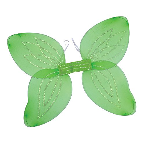 Bristol Novelty BA449 Adult Angel Wings for Fancy Dress, Green, One Size -