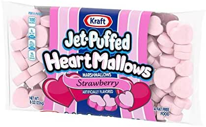 Seasonal Valentine's Day Jet-Puffed Strawberry Heart Marshmallows, 8 Oz