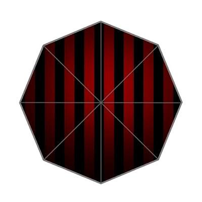 Élégant Rouge et Noir à rayures Parapluie