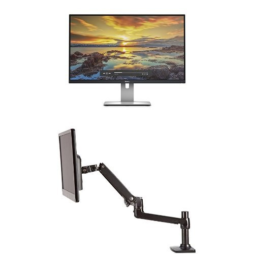 Price comparison product image Dell UltraSharp U2715H 27-Inch Screen LED-Lit Monitor Bundle with AmazonBasics Single Mounting Arm