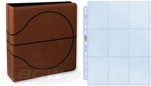 BCW Premium 3-Ring Binder with 25 Ultra Pro Platinum Pages for Basketball ()