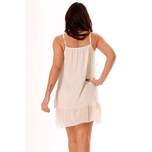 Miss Wear Line - Tunique blanche avec des broderies et des volants