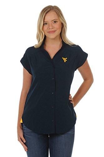 (UG Apparel NCAA West Virginia Mountaineers Women's Cece Top, Navy/Gold, Medium)