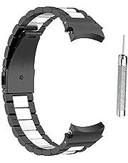 CZSMART Vervangende horlogeband compatibel met Samsung Galaxy Watch4 40/44 mm Galaxy Watch 4 Classic 46 mm / 42 mm roestvrijstalen band