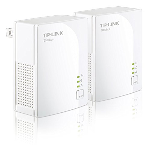 Line Network Adapter (TP-Link AV200 Nano Powerline Adapter Starter Kit, up to 200Mbps)