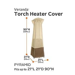 Classic Accessories Veranda Water-Resistant 21 Inch Pyramid Torch Patio Heater Cover