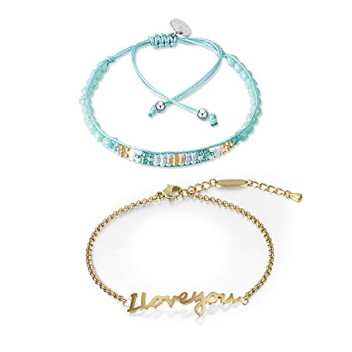 Townshine Charm Bracelet Rope Bracelet Summer Surfer Handmade Bracelet Adjustable Vintage Rope Boho Woven Hand Rice Beads Bracelet (Gold)