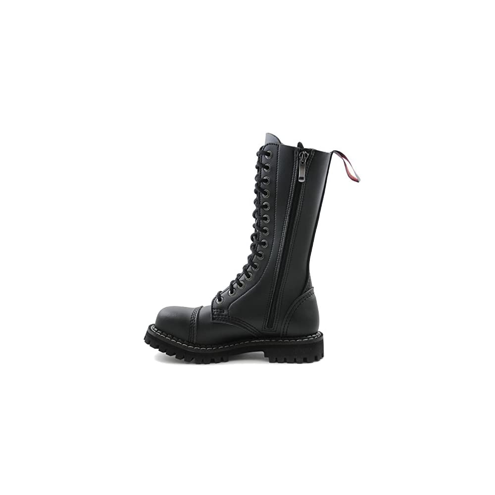 Stiefel Punk 48 In Eu Armee Schwarze Vegane 36 Made Gothic Mit Itch Ranger Army Angry Stahlkappe 14 Loch POn0wk