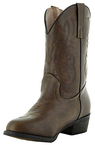 Country Love Little Rancher Kids Cowboy Boots K101-1001 (4, Brown) by Country Love Boots (Image #5)