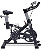 IDEER LIFE Exercise Bike Indoor Cycling Bike for Home Sport Workout,Height Adjustable Sport Exercise Stationary Bike for Home Indoor Cardio,w/Pulse Sensor&LCD Monitor,Max Capacity:330lb