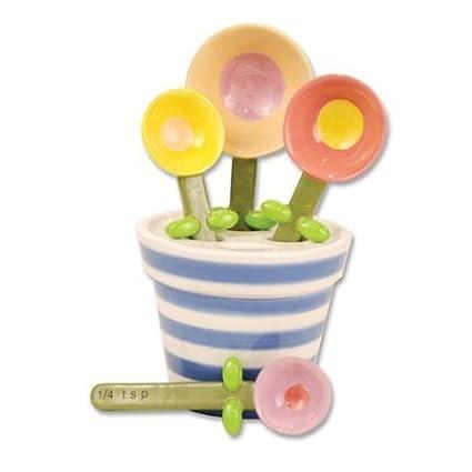 Flower Pot Measuring Spoon Baking Set, Ceramic by 180 Degrees 0844828006536