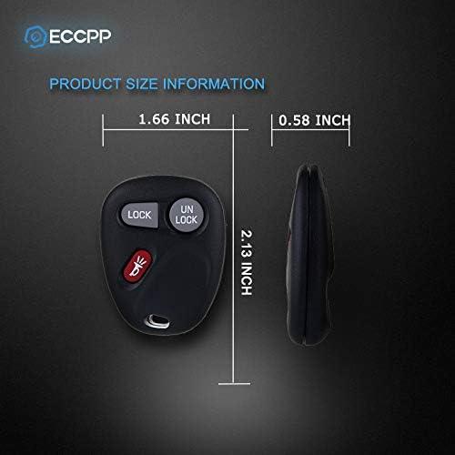 ECCPP Replacement fit for Keyless Entry Remote Key Fob Chevrolet Silverado Blazer S10 Suburban Tahoe//GMC Sierra Sonoma Yukon//Oldsmobile Bravada Series KOBUT1BT Pack of 2