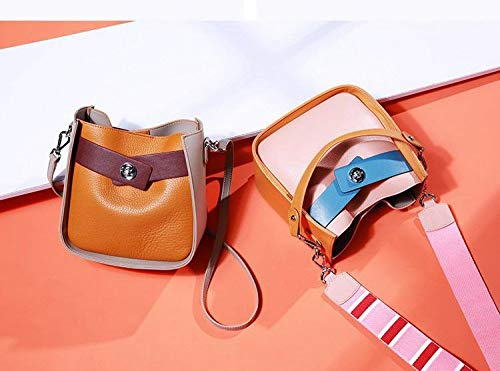 Backpack Bucket Women's Single Slanting Fairy White Handbag Leather Chenggebs Girl Blue Bag Shoulder Joker ZCSqx4wn