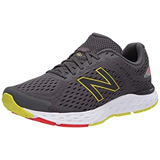 New Balance Men's 680 V6 Running Shoe, Magnet/Phantom, 12 M US