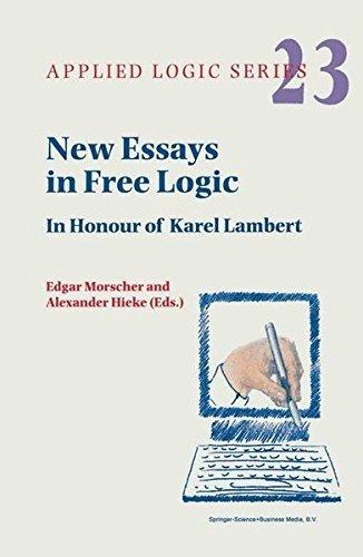 Download New Essays in Free Logic: In Honour of Karel Lambert (Applied Logic Series) Pdf