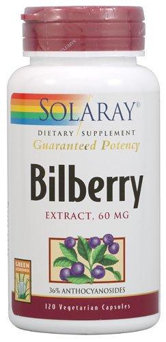 Solaray Bilberry Extract -- 60 mg - 120 Vegetarian Capsules - (Solaray Bilberry Extract)