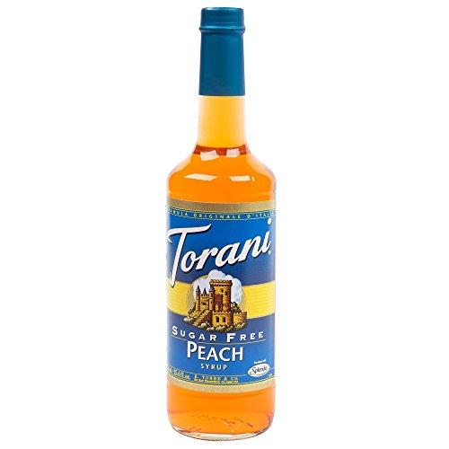 Torani Sugar Free Syrup, Peach, 33.8 Ounce  (Pack of 3)