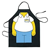 ICUP The Simpsons - Homer Be The Character Adult Size 100% Cotton Adjustable Black Apron