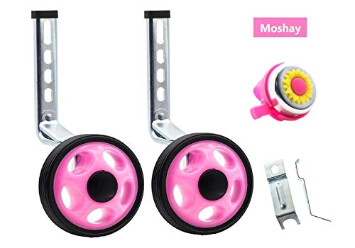 - MOSHAY Training Wheels for Children's Bicycle stabiliser(for 14 16 18 20 inch Bike) (Pink)