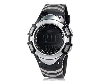comprar FOXGUIDER FX704S-B Multifuncional reloj en forma de Barómetro de pesca digital (Negro y Blanco) M.: Amazon.es: Deportes y aire libre