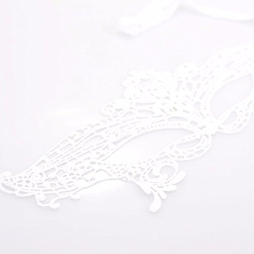 Ackful1PC Sexy Elegant Eye Face Mask Masquerade Ball Carnival Fancy Party (White) ()