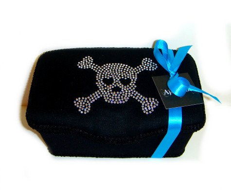 Black Skull Bling Boutique Nursery Baby Wipes Case Rhineston