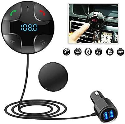 iitrust Auto FM Transmisor, Bluetooth 3.0 Manos Libres | Cargador ...