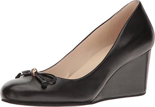 Cole Haan Womens Elsie Lace Wedge 65mm 8 Black Leather