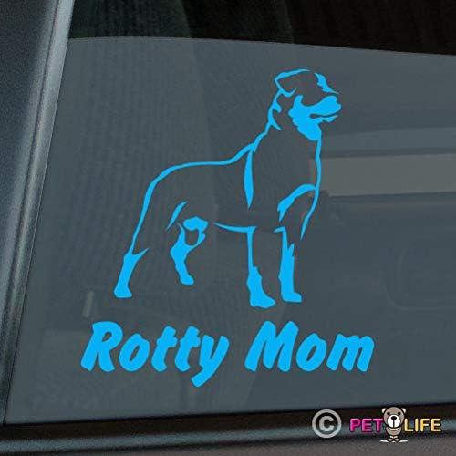 Rottweiler Mom Sticker Vinyl Auto Window rotty rott Rottie