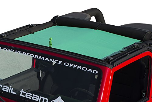 ALIEN SUNSHADE Jeep Wrangler Mesh Shade Top Cover with 10 Year Warranty Provides UV Protection for Your TJ Front Passengers (1997-2006) (Gift (1999 Gift)