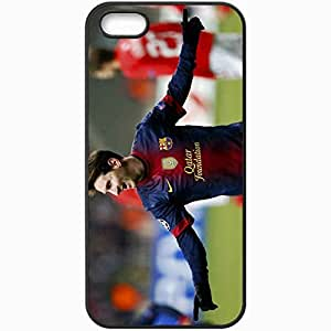 Personalized iPhone 5 5S Cell phone Case/Cover Skin Lionel Messi Leo Club Shape Fc Barcelona Champions League Uefa Soccer Player Star Sports Football Black