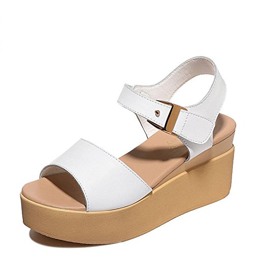 grueso con inferior sandalias y UE Sandalias RUGAI verano en white sandalias TnwUqCB0