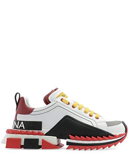 Dolce e Gabbana Men's Cs1649az69289926 White Leather Sneakers