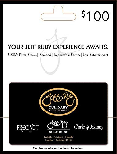 Jeff Ruby Gift Card
