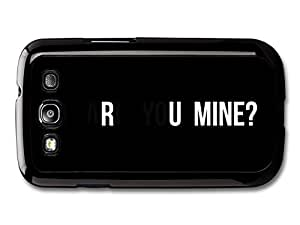 AMAF ? Accessories Arctic Monkeys Rock Band Alex Turner Are You Mine Lyrics Black Background case for Samsung Galaxy S3