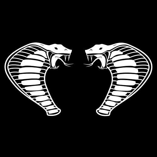 Cobra Snake (2 Pack) Vinyl Decal Sticker | Cars Trucks Vans SUVs Walls Cups Laptops | 5.5 Inch | White | -