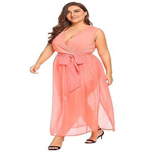 A Maniche abito Pink Light Lunghe Alto Tdpyt Lunghe Collo Abito LGUzVqpSM