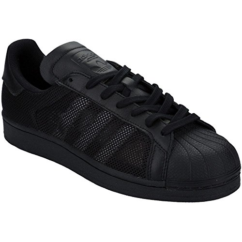 Adidas Originali Mens Superstar Triple Core Nero / Nero Nucleo / Nero