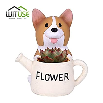 Amazon.com: Cheap Cute Corgi Resin Flower pots Planters ...